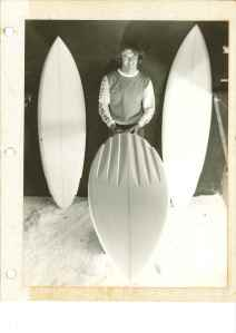 Col Smith shaping channel boards 1977
