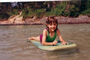Ellen at Fingal Bay 1989
