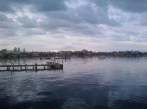Belmont Bay at dusk 24-7-11