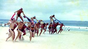 Newcastle area surf carnival Chariot Race 1978