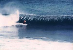 Bali surfer at Uluwatu 1977
