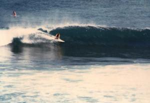 Bali 1977 surfer at Uluwatu