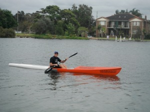 Black Neds Bay Ski Paddler