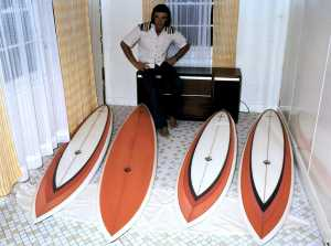 Col Smith Channel Boards he took to Hawaii