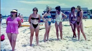 Girls watching Surf Carnival Redhead 1978