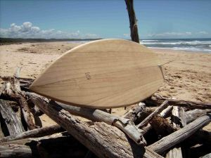 John Purnell Wooden surfboard