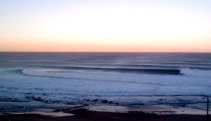 Merewether Beach evening glow 8-7-11