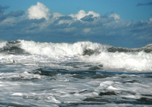 Newcastle Beach big surf 14-7-11
