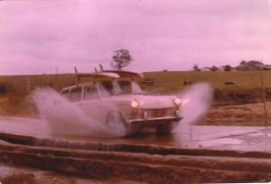On surfari near Bega 1977