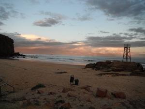Redhead Little Beach Sunset 18-07-11