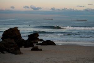 Redhead Beach surf on susnset 18-07-11