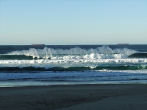 Redhead wind sprayed wave 9-7-11