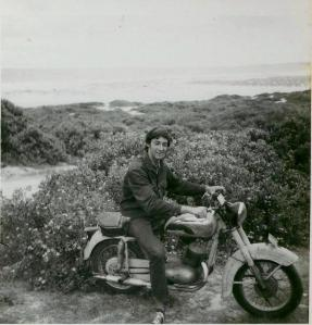 Crow in 1967 on 1948 Jawa CZ Redhead 2nd creek.