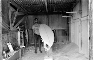 Martin Littlewood shaping a board 1977