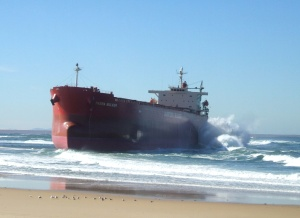 Pasha Bulker grounded at Nobbys June 2007