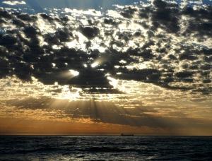 Redhead beach cloudbank 29-12-13