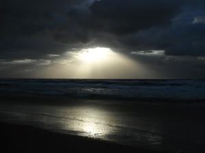 Redhead Beach rain cloud 10-11-2013