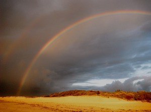 Redhead beach rainbow 09-01-14