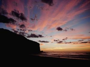 Redhead beach pink sunrise 26-02-14
