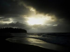 Redhead Beach storm 25-04-14