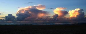 Redhead Beach clouds 22-06-14