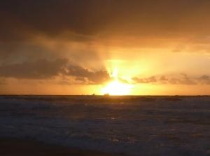 Redhead Beach shipn sunrise 03-02-15