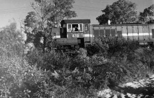 Train on Ferleigh Track 1977