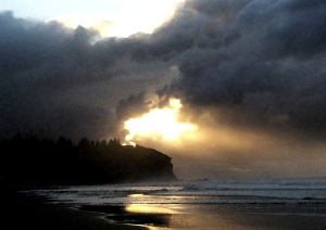 Redhead Beach sun burst 08-07-14