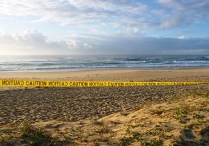 Caution Redhead Beach 16-11-12