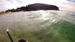 SUP view Redhead beach