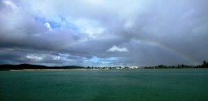 Rainbow Over Swansea Channel 17-03-16