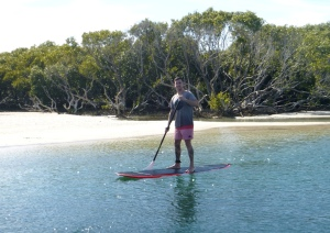 Sam on SUP Black Neds Bay